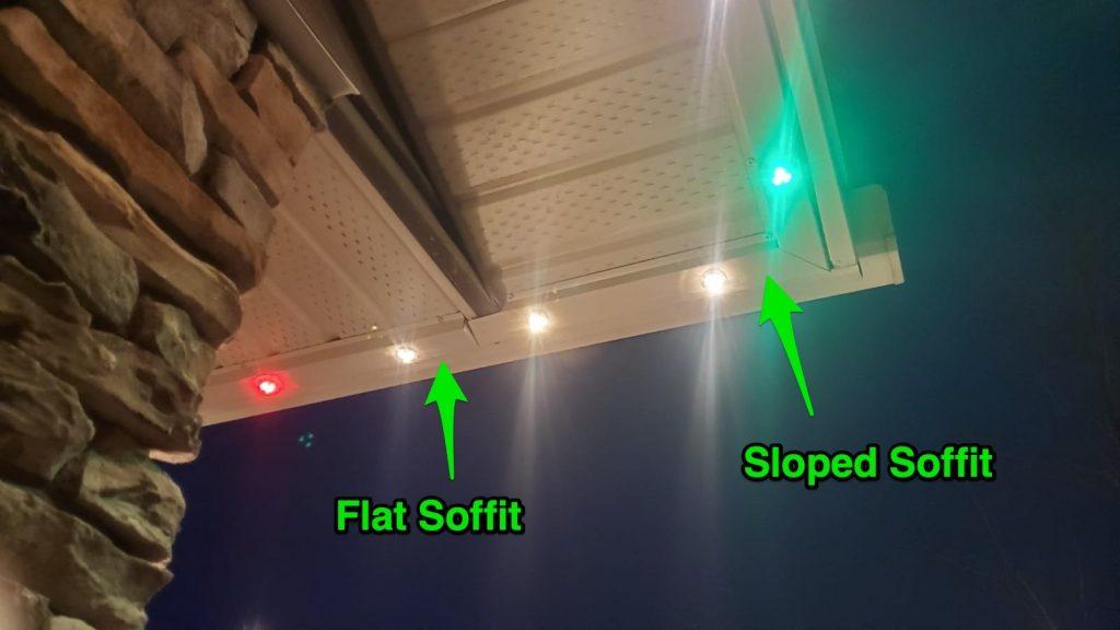 Gemstone Lights Sloped Soffit